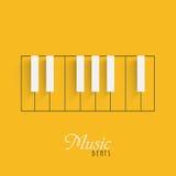Fortepianowa klawiatura dla Muzycznego pojęcia Fotografia Stock