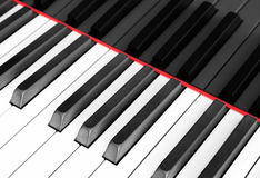 Fortepianowa klawiatura makro-, fortepianowej klawiatury zbliżenie Obrazy Royalty Free
