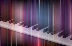Fortepianowa klawiatura na kolorowym tle Obraz Stock