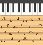 Fortepianowa muzyka Obraz Stock