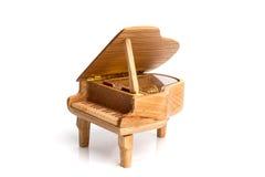 fortepianowa pozytywka na bielu Obraz Stock