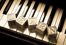 fortepianowa uczenie sztuka Obraz Stock