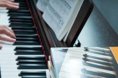 Fortepianowe lekcje Obrazy Stock
