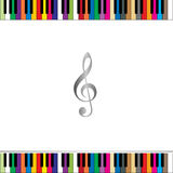 Fortepianowej klawiatury granica Zdjęcie Stock