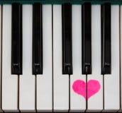 Fortepianowej klawiatury miłość Zdjęcia Royalty Free
