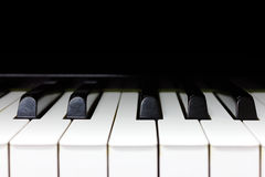 Fortepianowej klawiatury tło Zdjęcie Stock