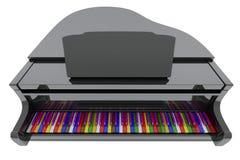 fortepianowi uroczyści kolorów klucze ilustracja wektor