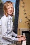 Fortepianowy gracz Zdjęcia Stock