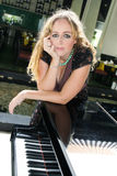 fortepianowy gracz Zdjęcia Royalty Free