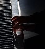 Fortepianowy gracz Fotografia Stock