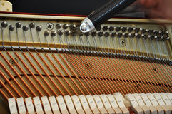 fortepianowy nastrajanie Obraz Stock
