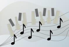 Fortepianowy tło Zdjęcie Royalty Free
