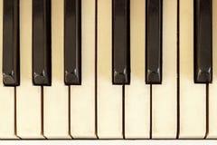 Fortepianowy zakończenie, instrument muzyczny uczy się bawić się instrument Fotografia Stock