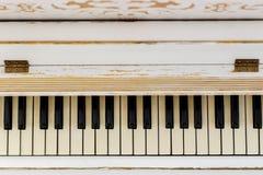 Fortepianowy zakończenie, instrument muzyczny uczy się bawić się instrument Obrazy Stock
