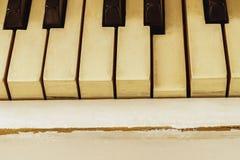 Fortepianowy zakończenie, instrument muzyczny uczy się bawić się instrument Zdjęcie Royalty Free