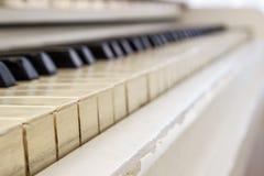 Fortepianowy zakończenie, instrument muzyczny uczy się bawić się instrument Fotografia Royalty Free