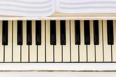 Fortepianowy zakończenie, instrument muzyczny uczy się bawić się instrument Zdjęcia Stock