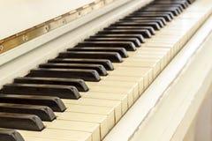 Fortepianowy zakończenie, instrument muzyczny uczy się bawić się instrument Zdjęcie Stock