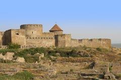Forteresse antique d'Akkerman chez Belgorod-Dnestrovsky, près d'Odessa, l'Ukraine Vieille photo de forteresse de citadelle Image stock