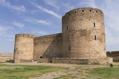 Forteresse antique d'Akkerman chez Belgorod-Dnestrovsky, près d'Odessa, l'Ukraine Vieille photo de forteresse de citadelle Photographie stock libre de droits