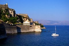 Forteresse antique de Corfou Photos libres de droits