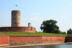 Forteresse célèbre de Wisloujscie à Danzig, Pologne Photo stock