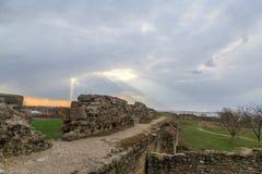 Forteresse d'Akkerman de première tour du ` s pendant le coucher du soleil dans Belgorod, Image libre de droits
