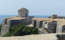 Forteresse d'Ali Pasha Tepelena à Porto Palerme, sur la mer, en Albanie du sud photo stock