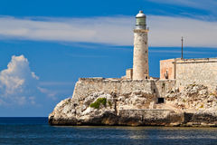 Forteresse d'EL Morro à La Havane, Cuba Photographie stock libre de droits