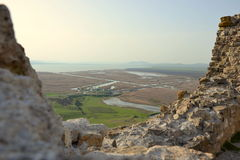 Forteresse d'Enisala, Roumanie Photos stock