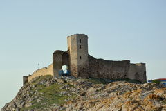 Forteresse d'Enisala, Roumanie Photographie stock