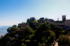 Forteresse d'Enna, Sicile, Italie Photos libres de droits