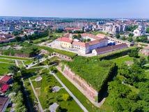 Forteresse d'Oradea comme vu d'a ci-dessus Photographie stock