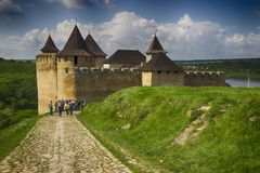 Forteresse dans le Kamenets-Podolsk Hotin Photos stock