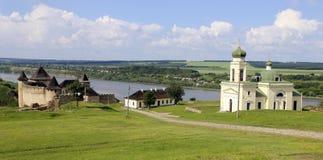 Forteresse dans le Kamenets-Podolsk Hotin Images stock
