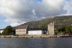 Forteresse de Bergenhus bergen norway Image stock