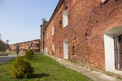 Forteresse de Brest L'entrée principale au mémorial de guerre Image stock