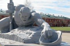 Forteresse de Brest L'entrée principale au mémorial de guerre La mémoire de la deuxième guerre mondiale Images stock