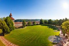Forteresse de Burg d'Esslinger vieille en été, Allemagne photo libre de droits