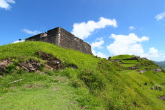 Forteresse de côte de soufre - rue Kitts Photos stock