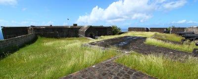 Forteresse de côte de soufre - rue Kitts Image libre de droits