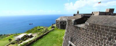 Forteresse de côte de soufre - rue Kitts Images libres de droits