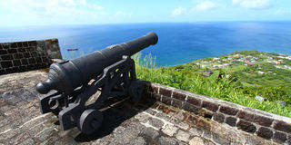 Forteresse de côte de soufre - saint Kitts Image libre de droits