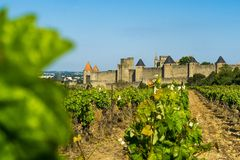 Forteresse de Carcassonne, France Photographie stock