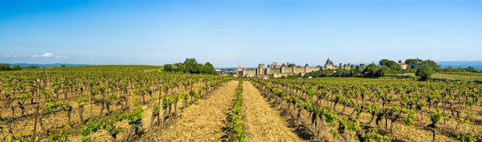 Forteresse de Carcassonne, France Photo libre de droits