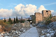 Forteresse de croisé de Byblos Images libres de droits