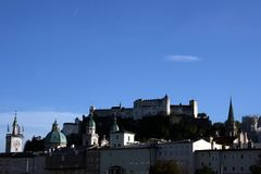 Forteresse de Hohensalzburg à Salzbourg images libres de droits