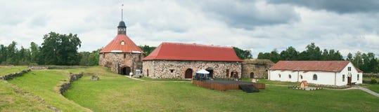 Forteresse de Korela dans Priozersk (1295) Photo stock