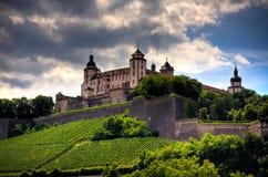 Forteresse de Marienberg, Wurtzbourg, Allemagne Photographie stock