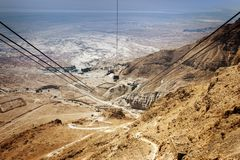 Forteresse de Masada en Israël Photographie stock libre de droits